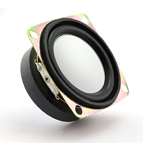 Lind Kitchen 2pcs 2 Inch 4Ohm 3W Mini Audio Loudspeaker Portable Square DIY HIFI 45 Magnetic Music Speaker Multimedia Audio Stereo Speaker 52mm