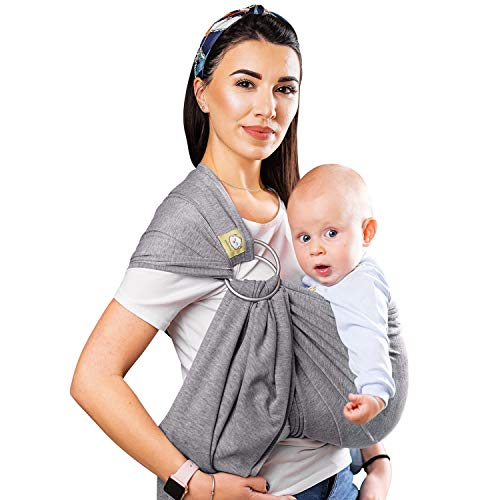 Baby Wrap Ring Sling Ergo Carrier  Allin1 Stretchy Baby Wraps with Detachable Rings Baby Sling  Infant Carrier  Babys Wrap  Hands Free Babies Carrier Wraps  Baby Shower Gift