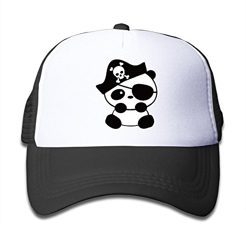 Unisex Animal Panda Cartoon Pirate Mesh Children Sport Hat Black (Cartoon Pirate Hat)