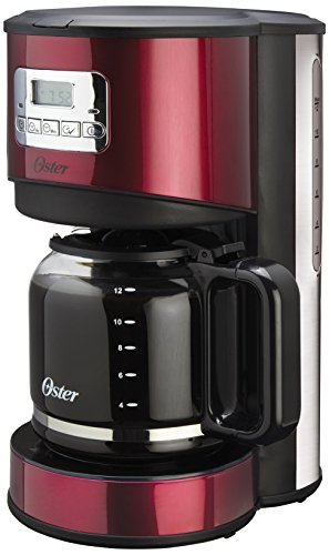 Oster BVSTAD036R-033 12-Cup Programmable Coffee Maker, Red