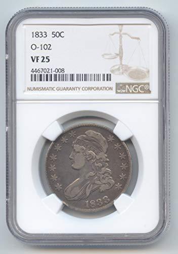 1833 Capped Bust Half Dollar VF-25 NGC
