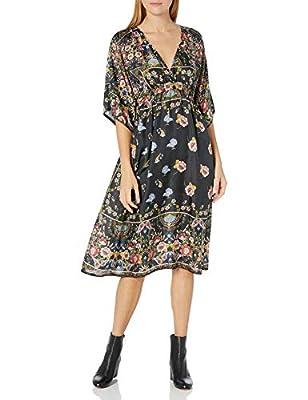 Johnny Was Women's Silk Printed Midi Dress