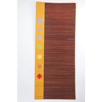 Yogamasti Chakra - Esterilla para Yoga y meditación (marrón ...