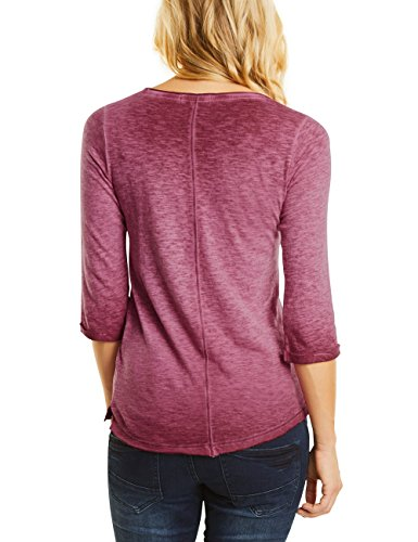 Cecil Reversed Cpd Gmd with Embroidery, Camiseta para Mujer Rot (Velvet Red 30986)