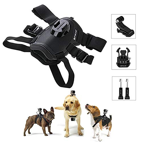 PULUZ Hound Dog Harness Adjustable Chest Strap Mount Belt Fetch Mount GoPro Hero 6/5 /5 Session /4 Session /4/3+ /3/2 /1, Xiaoyi Other Action Cameras (Dog Harness)