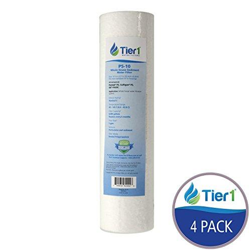 Tier1 P5 5 Micron 10 x 2.5 Spun Wound Polypropylene Sediment Pentek Replacement Water Filter 4 Pack