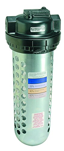 Dixon X03-02 Wilkerson 1/4'' Manual in-Line Desiccant Dryer Transparent Bowl with Guard, Metal/Plastic by Dixon