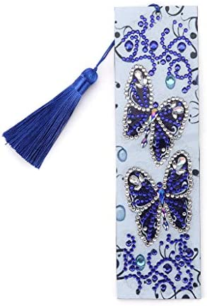 Kimnny ブックマーク、5D Butterfly1 DIYブックマークダイヤモンド塗装特別な形のダイヤモンド刺繍
