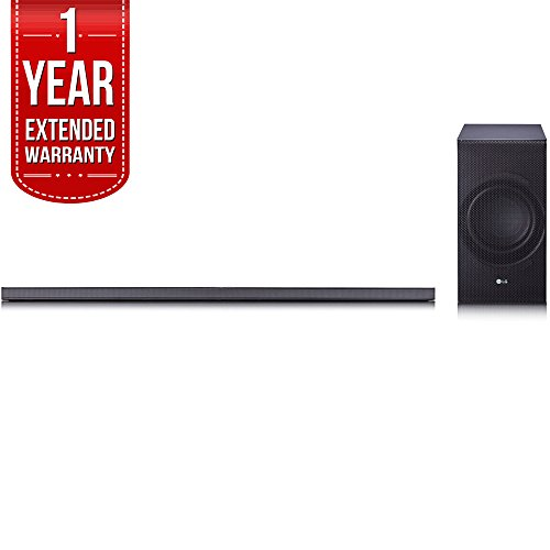 LG SJ8 Sound Bar w/ 4.1ch High Resolution Audio, WiFi & Bluetooth with 1 Year Extended Warranty
