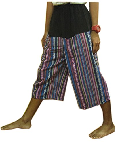 THAI HILL TRIBE STYLE GENUINE THICK COTTON HEAVY HANDMADE FREE SIZE by Night Bazaar