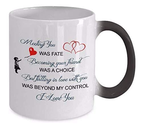 Color Changeing Mugs - Meeting You Was Fate - Coupled Mug, Soul Mate Coffee Mug