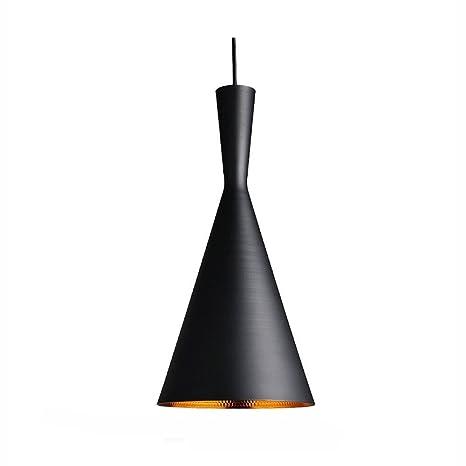 Lightess Lámpara Colgante Vintage 40W Lámpara de Techo Industrial ...