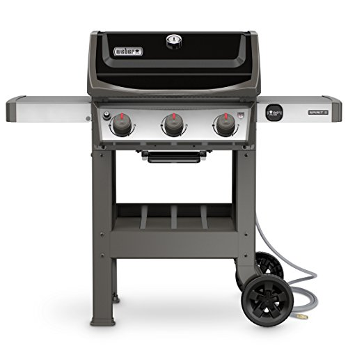 Weber 49010001 Spirit II E-310 3-Burner Natural Gas Grill, Black ()