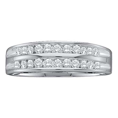10kt White Gold Womens Round D