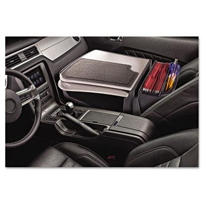 Autoexec Car Desk - AutoExec GripMaster Car Desk in Gray Style: Retractable Writing Surface