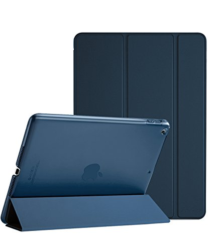 ProCase iPad 9.7 Case 2018 iPad 6th Generation Case / 2017 iPad 5th Generation Case - Ultra Slim Lightweight Stand Case with Translucent Frosted Back Smart Cover for Apple iPad 9.7 Inch -Navy Blue