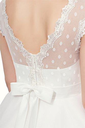 Firose Vintage 1950s Style Polka Dotted Tea Length Little Wedding ...