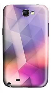Pink Purple Diamon Pattern PC Case and Cover for Samsung Galaxy Note 2/ Note II/ N7100