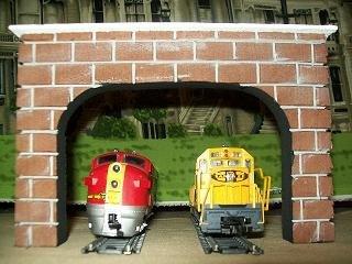 - Dechant's Railroad Express Model Railroad HO Gauge DOUBLE Tunnel Portal - Set of 2