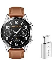 HUAWEI Latona-B19V Watch Gt 2 Smartwatch, 46 mm, Silver-Brun