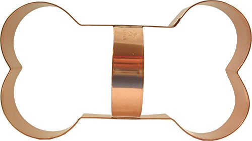 CopperGifts: Giant Dog Bone Cookie Cutter w/Handle - 9.5 inches