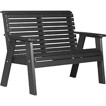 Amazon.com : Luxcraft 2 Plain Bench - Black : Garden & Outdoor
