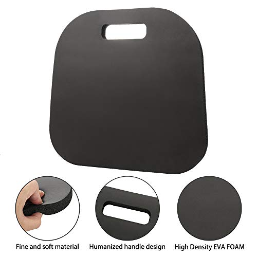 Povkeever Fitness Mat -20mm Thick Black Nbr Outdoor Seat Cushion Support Pad Elbow Pad Cushion 34cm33cm