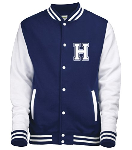 Anteriori Colori Navy amp; Iniziale Diversi Adulti Personalised Su Con Disponibile Da In Baseball giacca White Solo college Sleeves Varsity Zxxafv6