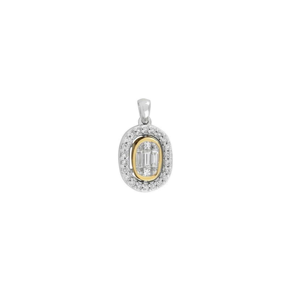 14k TWO TONE GOLD WOMENS PENDANT LP 3061 DIAMOND 0.47CT TW