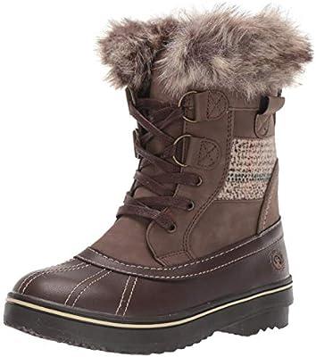 Brookelle Boot, Dark Brown/Tan