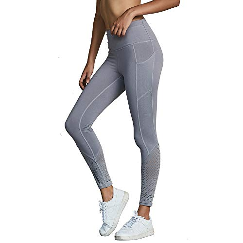 Zhangcaiyun alta Pantaloni vita caviglia e alla Leggings Pantaloni donna rapida ad sottili asciugatura a Grigio pantaloni fitness sportivi da sottili pnrFT0pq