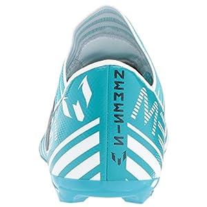 adidas Kids' Nemeziz Messi 17.3 FG J Soccer-Shoes, White/Legend Ink/Energy Blue, 3.5 Big Kid
