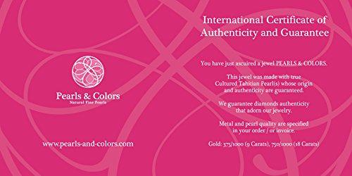 Pearls & Colors - Collier avec pendentif - Or blanc 9 cts - Perle de culture de Tahiti - 42 cm - AM-9CT 101 3R9B