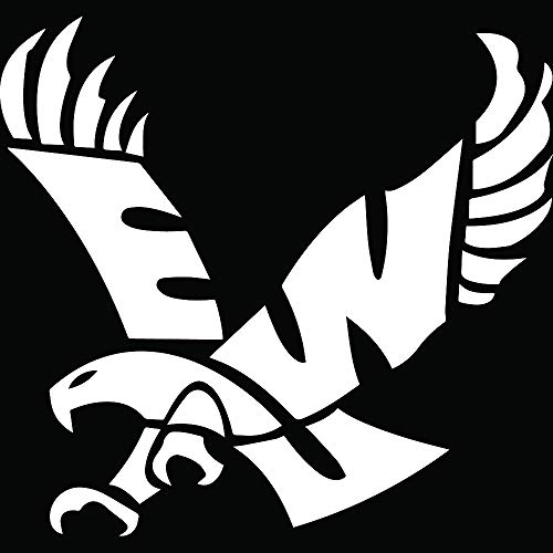 ANGDEST Eagles Eastern Washington University (White) (Set of 2) Premium Waterproof Vinyl Decal Stickers for Laptop Phone Accessory Helmet Car Window Bumper Mug Tuber Cup Door Wall Decoration