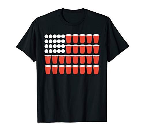 Beer Pong USA Flag T-Shirt