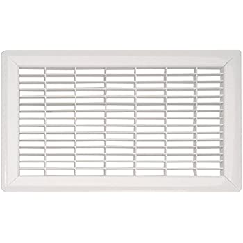 White Heavy Duty Steel Commercial Floor Grill - (15 Sizes Available) (6 x 12)