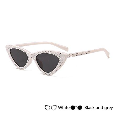 azul de gafas Oculos mujer Retro para pequeño rojo de Gafas Eyewear damas ZHANGYUSEN Vintage sol sol Gray3 negro Ray A5qTnw
