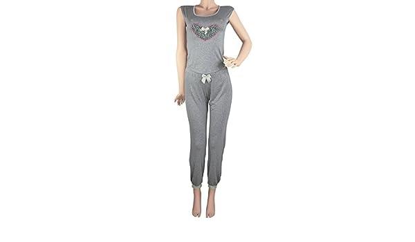 Hipnys Sleepwear PAC3 Pajama Pants Sleeveless PJ Sets for Women Ladies Nightwear at Amazon Womens Clothing store: