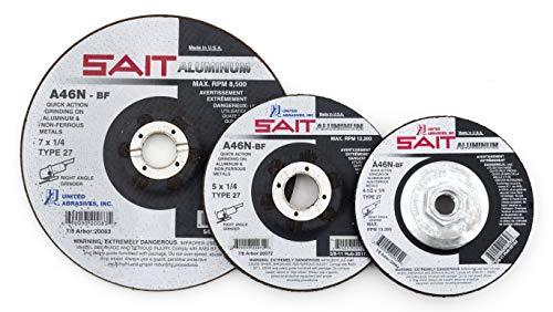 United Abrasives-SAIT 20062 Type 27 4-1/2-Inch x 1/4-Inch x 7/8-Inch Grade A46N Soft Bond Depressed Center Grinding Wheels, 25-Pack Dewalt Aluminum Grinding Wheel