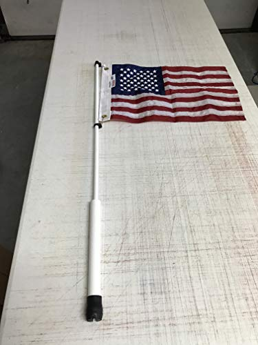 South Wind Designs Boat Flag Pole and American Flag Combo - Boat Flag Rod Holder