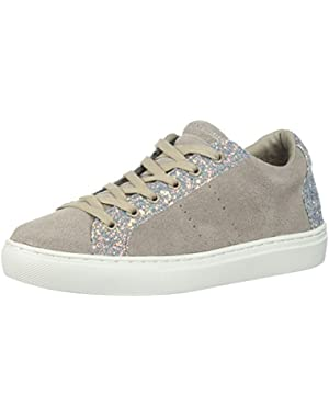 Women's Side Street-Glitter Star Cut Out Sneaker