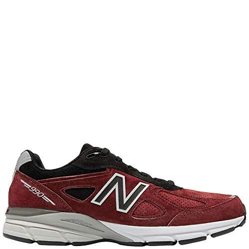 New Balance 990v4, Red 12 M US Women / 9.5 M US Men