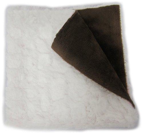 Sheepskin Chocolates (Baby Doll Bedding Sheepskin Huggable Blanky, White/Chocolate)