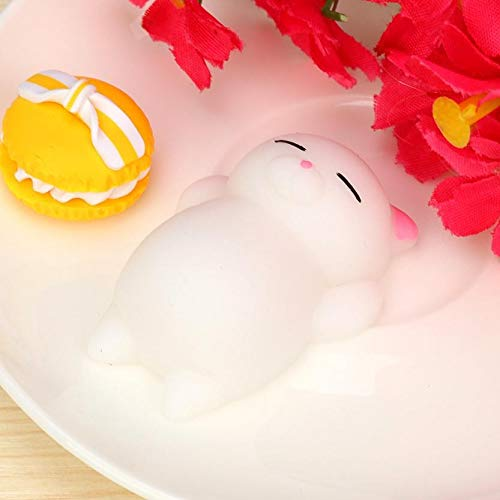Show Tine ON Slow Rising Cream Squeeze Squishies Stress Relief Toys Cute Mochi Cat Squishy Decorative Props Gift for Adults Kids Girls Valentine's Day (C)