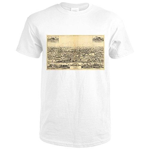 Longwood Florida (Longwood, Florida - Panoramic Map (Premium White T-Shirt X-Large))