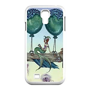 Samsung Galaxy S4 9500 Cell Phone Case White Dreaming On Aquamarine Tides O5W1VC