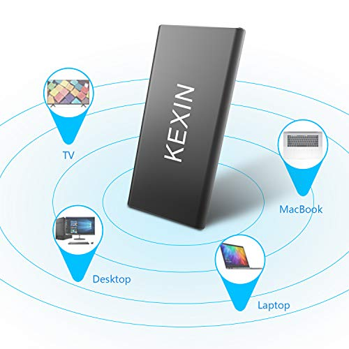 KEXIN 240GB Portable External SSD Drive USB 3.0 High Speed Read & Write up to 400MB/s & 300MB/s External Storage Ultra-Slim Solid State Drive for PC, Desktop, Laptop, MacBook Black by KEXIN (Image #5)