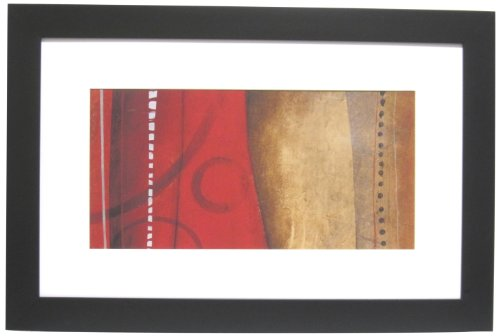 Alpine Art & Mirror Streaming IIB Abstract by David Linanetz with Black Frame