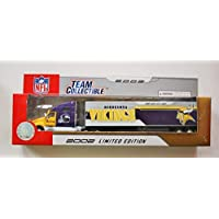 $24 » Fleer 2002 LIMITED EDITION NFL Team Collectible 1:80 Scale Diecast Kenworth Tractor Trailer MINNESOTA VIKINGS