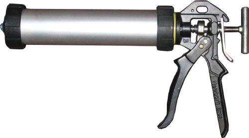 Newborn 610-AL Sausage/Bulk/Cartridge Smooth Rod Caulking Gun, 10 oz. Sausage Packs/10 oz. Bulk, 18:1 Thrust Ratio
